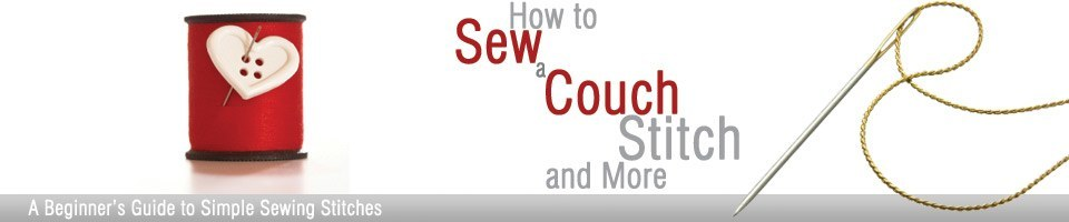 How to Sew a Couch Stitch Header