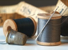 Thread and Thimble Close Up