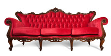 Red Victorian Style Sofa