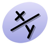X over Y Fraction Icon